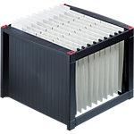 Boîte pour dossiers suspendus helit H6110092 A4 Noir 36 x 38 x 26 cm