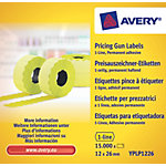 Étiquettes multifonctions Avery 1 ligne Jaune 10 Paquets de 1500 Étiquettes