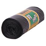 Sacs poubelle avec fil de serrage Komo 60 l Noir 60 x 80 cm 15 Unités