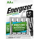 Piles rechargeables Energizer Extreme AA HR6 2300mAh NiMH 1,2V 4 Unités