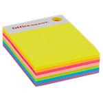 Cube de notes adhésives Office Depot 76 x 101 mm Assortiment néon 280 Feuilles