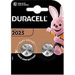 Piles bouton Duracell DL2025 CR2025 3V Lithium 2 Unités