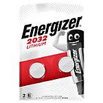 Piles bouton Energizer CR2032 3V Lithium 2 Unités