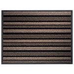 Tapis d'entrée extérieur Office Depot Polyamide Beige, noir 68 x 90 cm