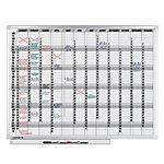 Planning annuel magnétique Legamaster Professional Annuel 120 x 90 cm
