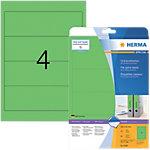 Étiquettes pour dos de classeur SuperPrint HERMA A4 61 mm Vert 20 Feuilles de 4 Étiquettes