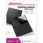 Couvertures de reliure Office Depot Lethergrain™ A4 Cuir Noir 100 Unités