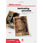 Pochettes de plastification Office Depot Brillant 2 x 75 (150) Micron Transparent 25 Unités