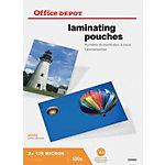 Pochette de plastification Office Depot Brillant 2 x 125 (250)  µm Transparent 100 Unités