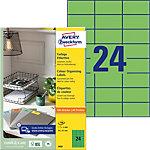 Étiquettes universelles AVERY Zweckform 3450 QuickPEEL Vert A4 70 x 37 mm 100 Feuilles de 24 Étiquettes