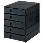 Module de classement Styro Stryo Noir 5 tiroirs 24,6 x 33,5 x 32,3 cm