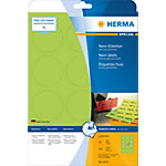 Étiquette adhésive Herma 5155 sur feuille de format A4 60mm vert fluo