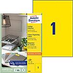 Étiquettes universelles Avery QuickPEEL™ Jaune 210 x 297 mm 100 Feuilles