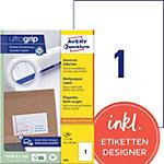 Étiquettes universelles AVERY Zweckform 3478 Ultragrip Blanc A4 210 x 297 mm 100 Feuilles de 1 Étiquettes