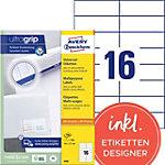 Étiquettes universelles AVERY Zweckform 3484 105 x 37 mm Blanc 105 x 37 mm 100 Feuilles de 16 Étiquettes