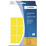 Étiquette universelle permanente Herma 2451 25x40mm Jaune