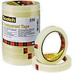 Ruban Adhésif Scotch 550 Transparent 15 mm x 66 m Tour de 10 Rouleaux