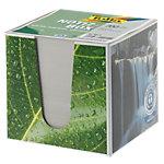 Bloc cube recyclé transparent + recharge Folia 90 x 90 mm Gris 700 Feuilles