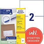 Étiquettes universelles AVERY Zweckform 3655 Ultragrip Blanc A4 210 x 148 mm 100 Feuilles de 2 Étiquettes