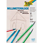 Papier à dessin millimétré Folia A4 80 g