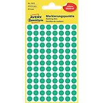 Pastilles autocollantes AVERY Zweckform 3012 Vert Rond Ø 8 mm 4 Feuilles de 104 Étiquettes