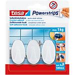 Crochet tesa Powerstrips® 0,06 m Blanc 3 Unités