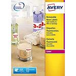 Mini étiquettes  Avery Jaune fluo 99,1 x 38,1 mm 100 Feuilles
