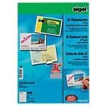 Cartes de visite pour PC Sigel 3C Lisse 210 g