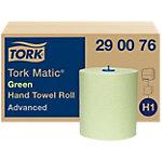 Essuie mains Tork H1 Matic Advanced Papier Vert 6 Rouleaux