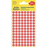 Pastilles autocollantes AVERY Zweckform 3010 Rouge Rond Ø 8 mm 4 Feuilles de 104 Étiquettes