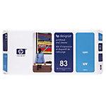 Tête D'Impression + Nettoyant D'origine HP 83 Cyan C4961A