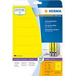 Étiquette adhésive pour dos de classeur Herma 5091 192x38mm jaune