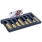 Plateau à monnaie DURABLE Euroboard L Anthracite 19,3 x 3,5 x 32,4 cm