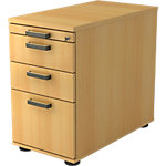 Caisson à tiroirs Hammerbacher Future 3 428 x 800 x 760 mm Imitation hêtre