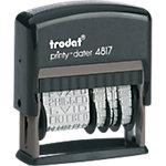 Tampon multiformules Trodat Printy 4817 1 Ligne Faxé le, par e mail, reçu le, répondu le, saisi le, retourné le, vérifié le, payé le, confirmé le, facturé le, expédié le, comptabilisé le 47 x 3,8 mm Noir