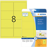 Étiquettes universelles multifunctions HERMA 5144 Jaune fluo 99,1 x 67,7 mm 20 Feuilles