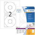 Étiquettes cd et dvd HERMA Blanc Ø 116 mm 25 Feuilles
