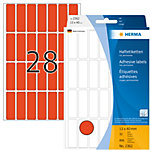 Étiquette universelle adhésive Herma 2362 13x40mm rouge