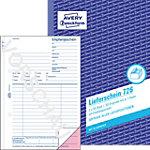 Reçus de livraison et de confirmation AVERY Zweckform 726 Blanc, rose A5 21 x 0,9 x 14,9 cm 50 Feuilles