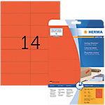 Étiquettes repositionnables HERMA Rouge 105 x 42,3 mm 20 Feuilles