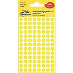 Pastilles autocollantes AVERY Zweckform 3013 Jaune Rond Ø 8 mm 4 Feuilles de 104 Étiquettes
