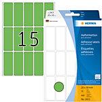 Étiquette universelle Herma 2415 20x50mm vert