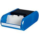 Boîte pour cartes de visite helit Noir, bleu pour 300 Cartes 13,6 x 24 x 6,7 cm