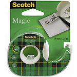 Dévidoir pour ruban adhésif Scotch Magic Transparent sans bruit 1,9 cm