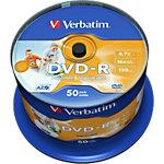 DVD + R Verbatim 16x 4.7 Go Printable Spindle 50 Unités