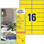 Étiquettes AVERY Zweckform 3455 Jaune A4 105 x 37 mm 100 Feuilles de 16 Étiquettes
