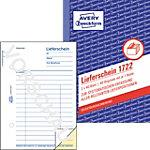 Bons de livraison AVERY Zweckform 1722 Blanc, jaune A6 10,5 x 14,8 cm 40 Feuilles