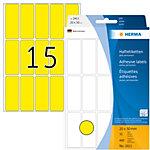 Étiquette universelle Herma 2411 20x50mm jaune