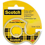 Ruban adhésif double face Scotch Permanent Transparent 12mm x 6,3m