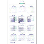 Calendrier annuel Brepols Postersize 2021